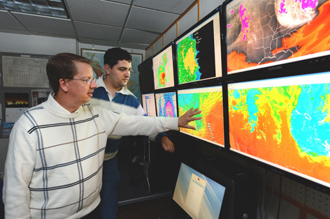 Meteorologists Bill Gallus and Tim Marquis