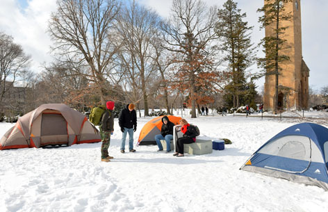 Campout on campus