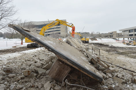 ISC walkway demolition