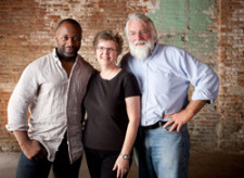 Carole Gieseke and Jim Heemstra with Chicago artist Theaster Gat