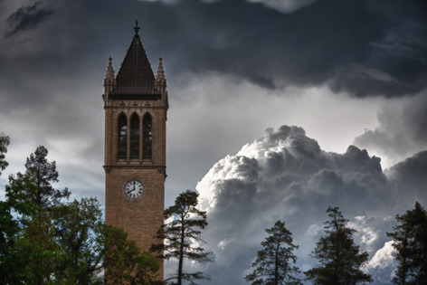 Stormy skies over the campanile