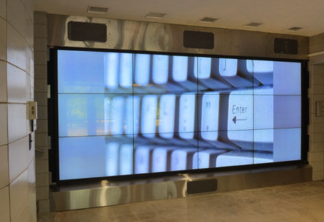 Coover Hall video wall