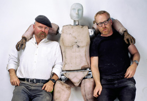 Mythbusters cohosts Jamie Hyneman and Adam Savage.
