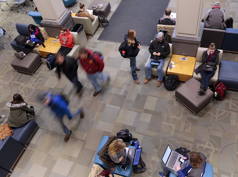 Harl Commons in Curtiss Hall.