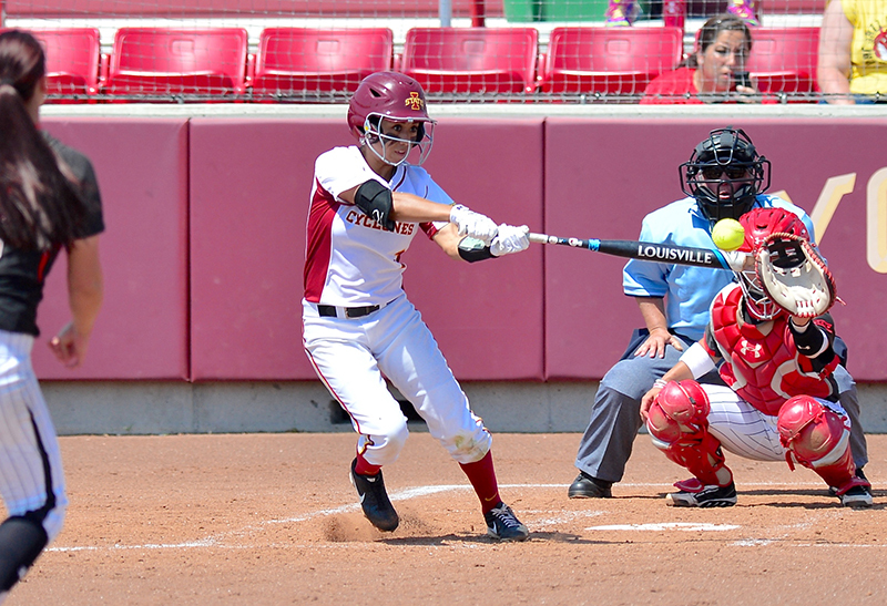 Brittany Gomez at the plate.