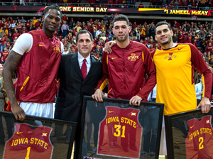 Jameel McKay, Steve Prohm, Georges Niang and Abdel Nader