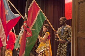 Flag presentation at the Global Gala.