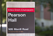 Pearson Hall sign