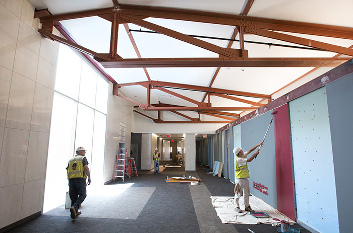 Nearly complete fourth floor of Marston