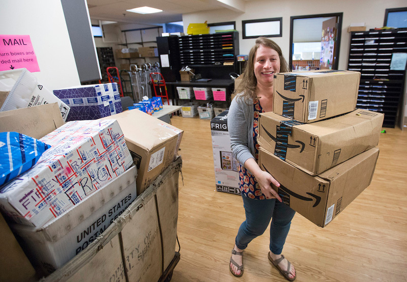Online shopping = mailroom challenges - Inside Iowa State for ...