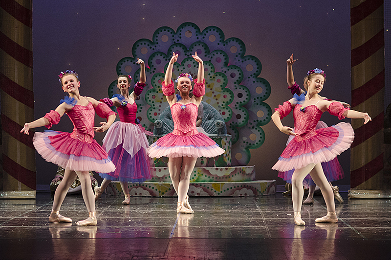 Dancers in The Nutcracker Ballet.