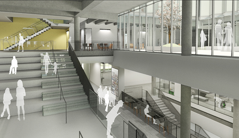 Student Innovation Center stairway schematic