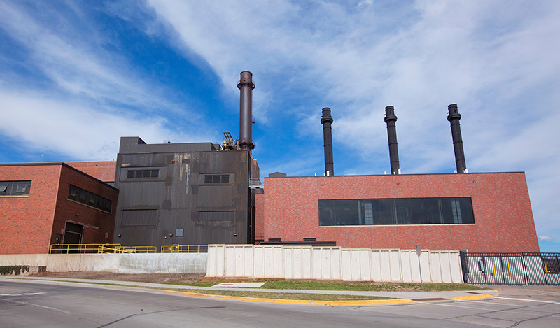 2017 view of south side of power plant