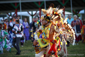 Meskwaki Nation dancer
