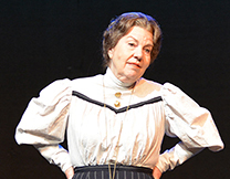 "Jane Cox as ""Our Town"" stage manager"
