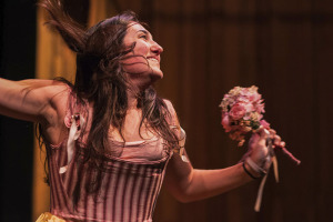 "Rayna Morano as Eurydice in ISU Theatre's ""Orpheus in the Underw"