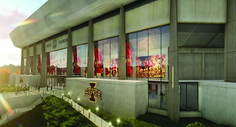 Architect's sketch of renovated Hilton Coliseum