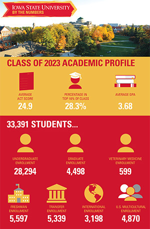 Infographic on student demographics