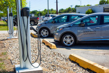 electric charging stations and Chevrolet Bolts