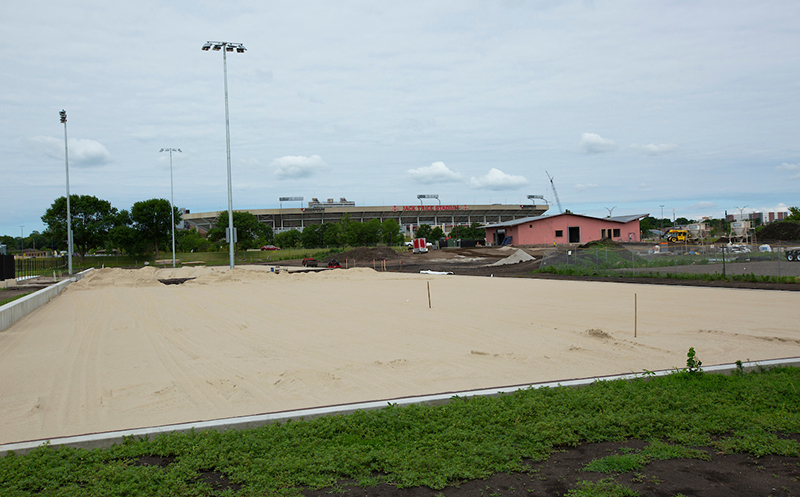 Volleyball courts at the SE recreation complex