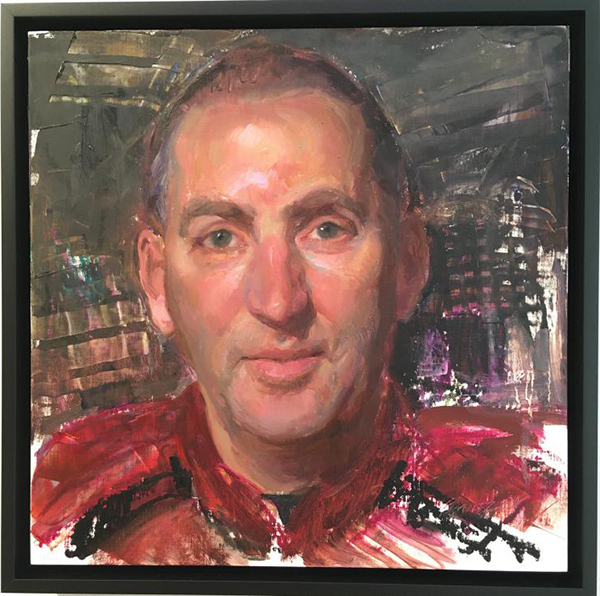 Portrait of athletics director Jamie Pollard by Rose Frantzen