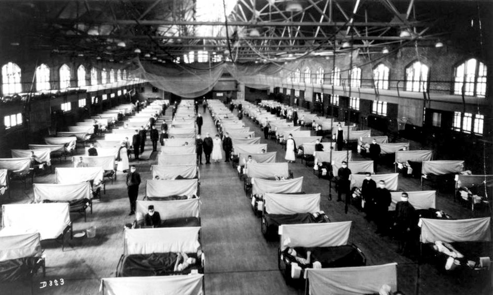 State Gym as hospital during 1918 Spanish flu pandemic